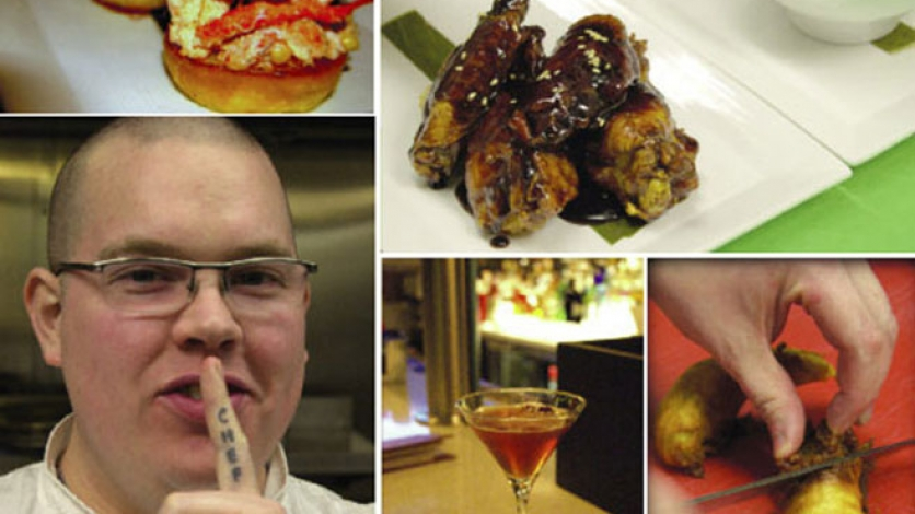 Burgers, plantains, and cocktails are served at Sage Lounge