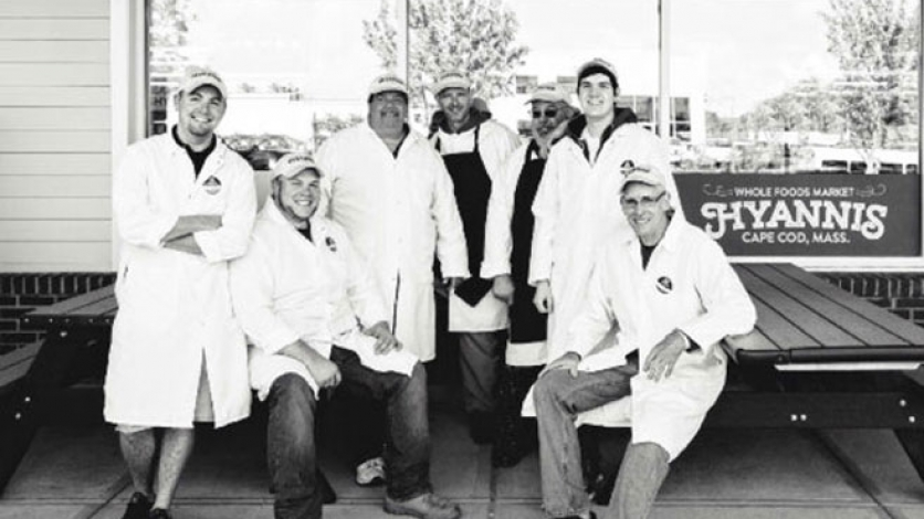 Butcher Derick Axon and the Borderbay Junction Farm workers