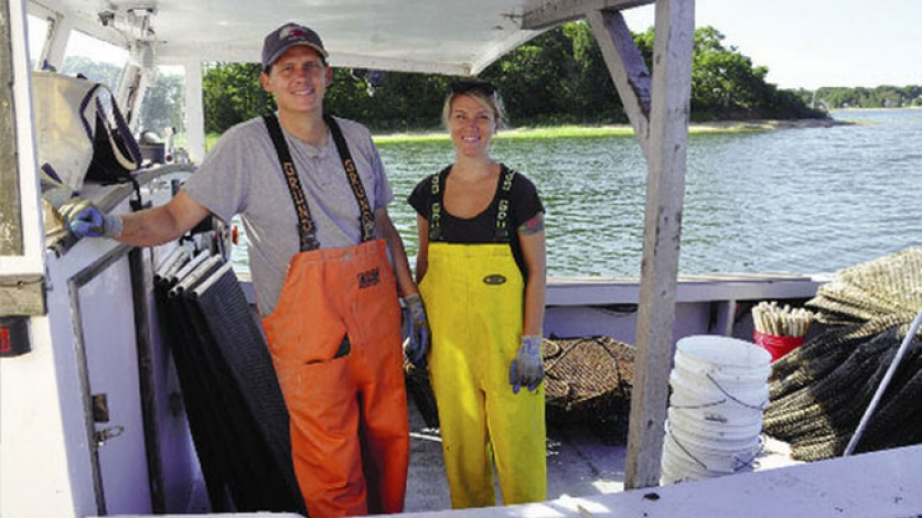 Pat and Jenny Ross goes oyster catching in Monk Cove