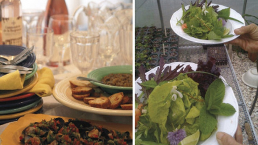 summer menu includes salad and other al fresco entertaining main dishes and desserts