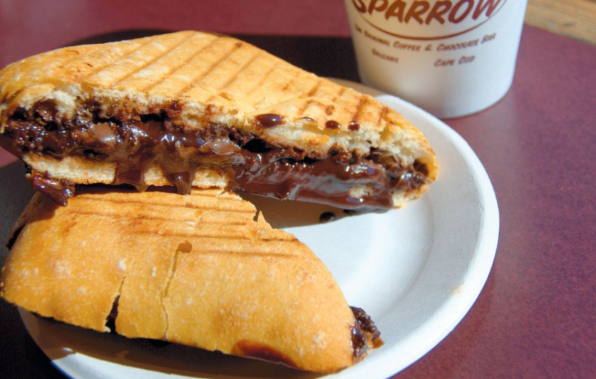The Grilled Chocolate Sandwich at the Hot Chocolate Sparrow