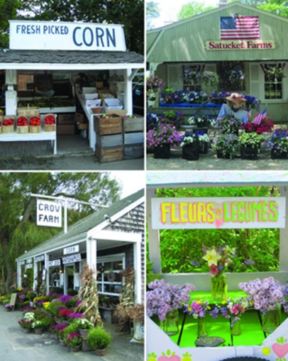 local farm stands sell fresh, homegrown fruits and vegetables
