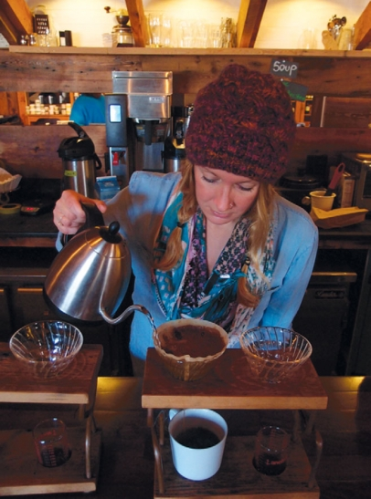 Snowy Owl Coffee Roasters offers pour-over coffee