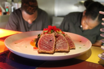 The tuna appetizer is a sure-to-please starter to your meal at Del Mar.
