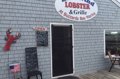 East Wind Lobster & Grille at Buzzards Bay Marina can be approached by land and sea.