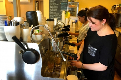 Expert baristas at Nirvana Coffee in Barnstable, MA