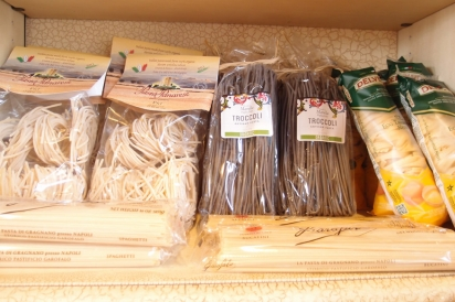 Nonna Elena stocks a selection of Italian cheeses, olive oils, pastas and sauces from small farmers and producers.