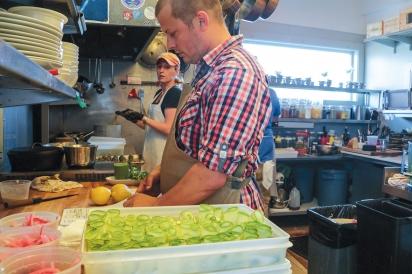 Chef Ceraldi and staff