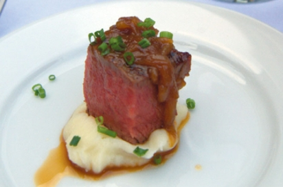 An amuse bouche served at one of the Belfry's weekly Wednesday wine tasting events.