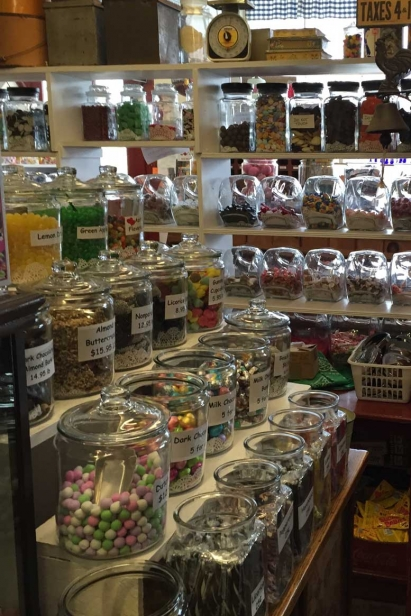 Brewster General Store's penny candy station
