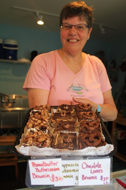 Cottage Street Bakery sells thick, creamy, buttercream brownies.