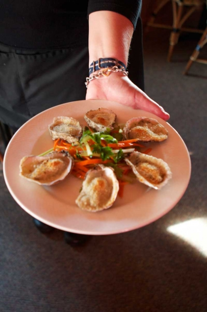 Oysters at Nauset Beach Club in Orleans, MA