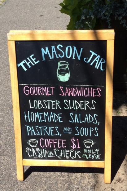 The Mason Jar provides a midday pick me up with an array of sandwiches assembled with Boar's Head meats and cheeses.