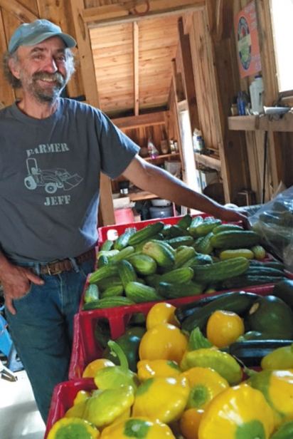 Jeff Deck in the barn