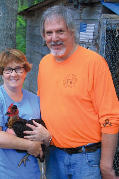 Judi and Steve Matson with goats