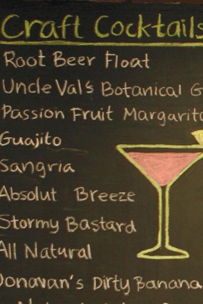 Craft Cocktails chalkboard
