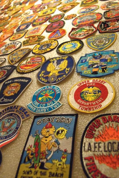 Various fireman patches