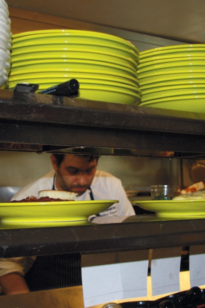 Chef Matt Tropeano in the kitchen at Spoon and Seed in Hyannis