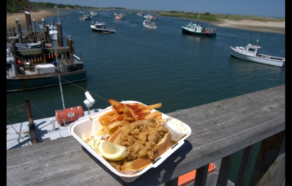 Clam roll on the Chatham Fish Pier